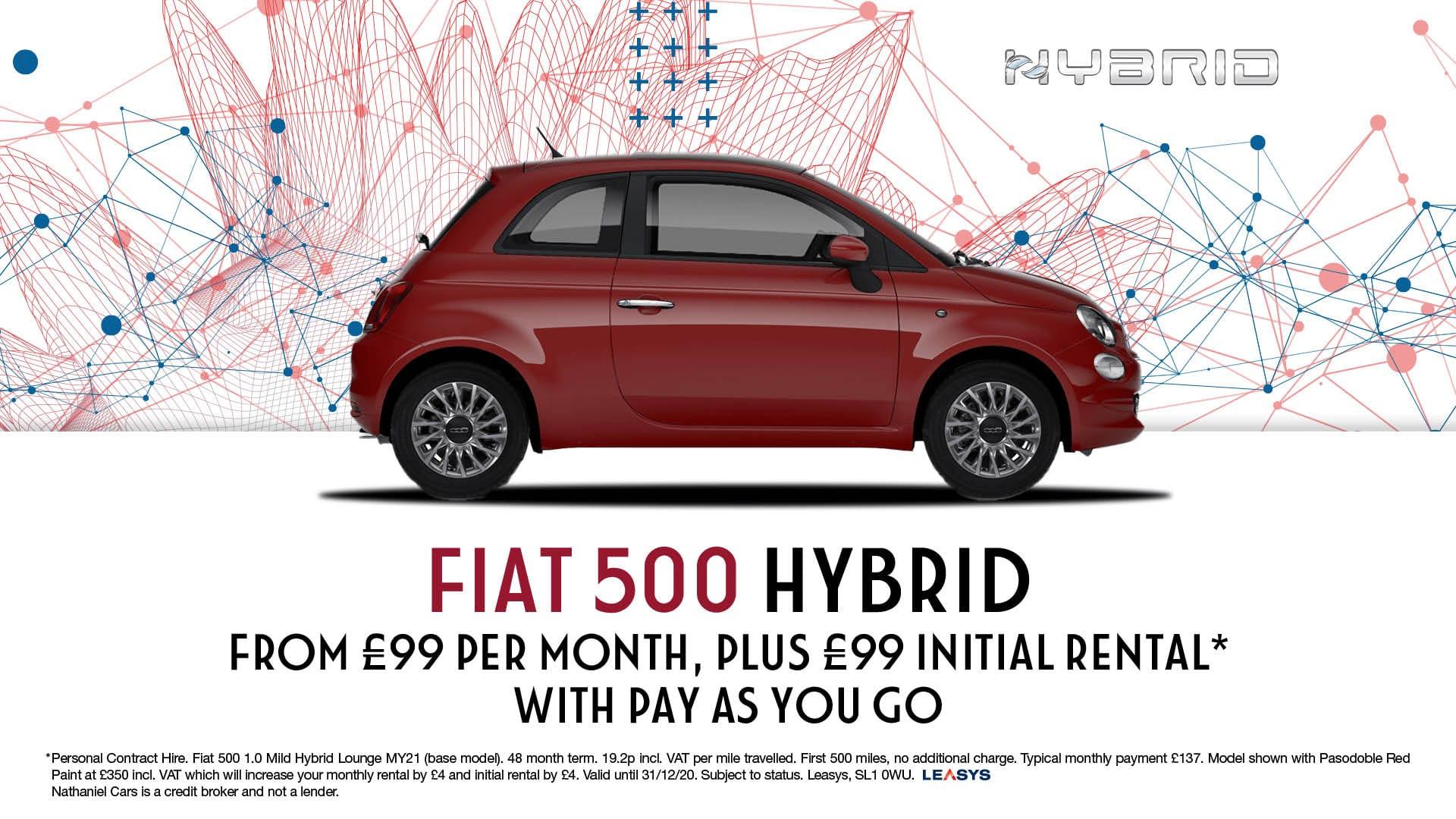 Q4 Fiat 500 Hybrid - Website Banner - 1920 x 1080