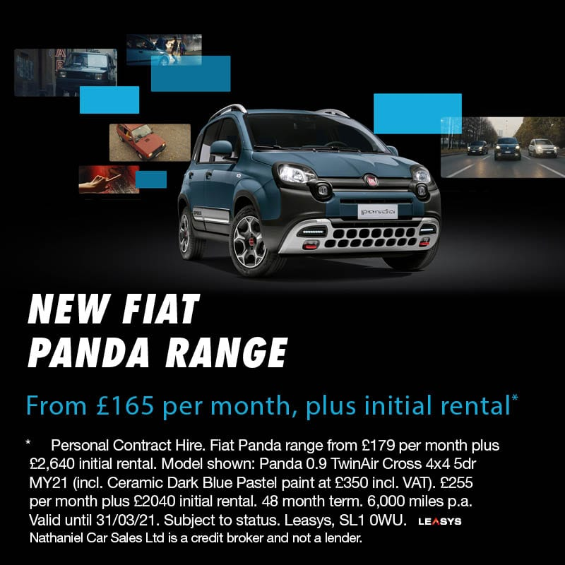 New Fiat Panda Now Available from £165 with Personal Contract Hire