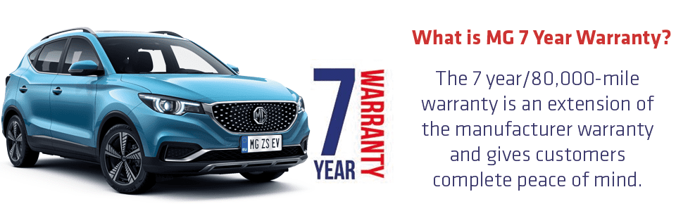 MG ZS EV 7 Year warranty