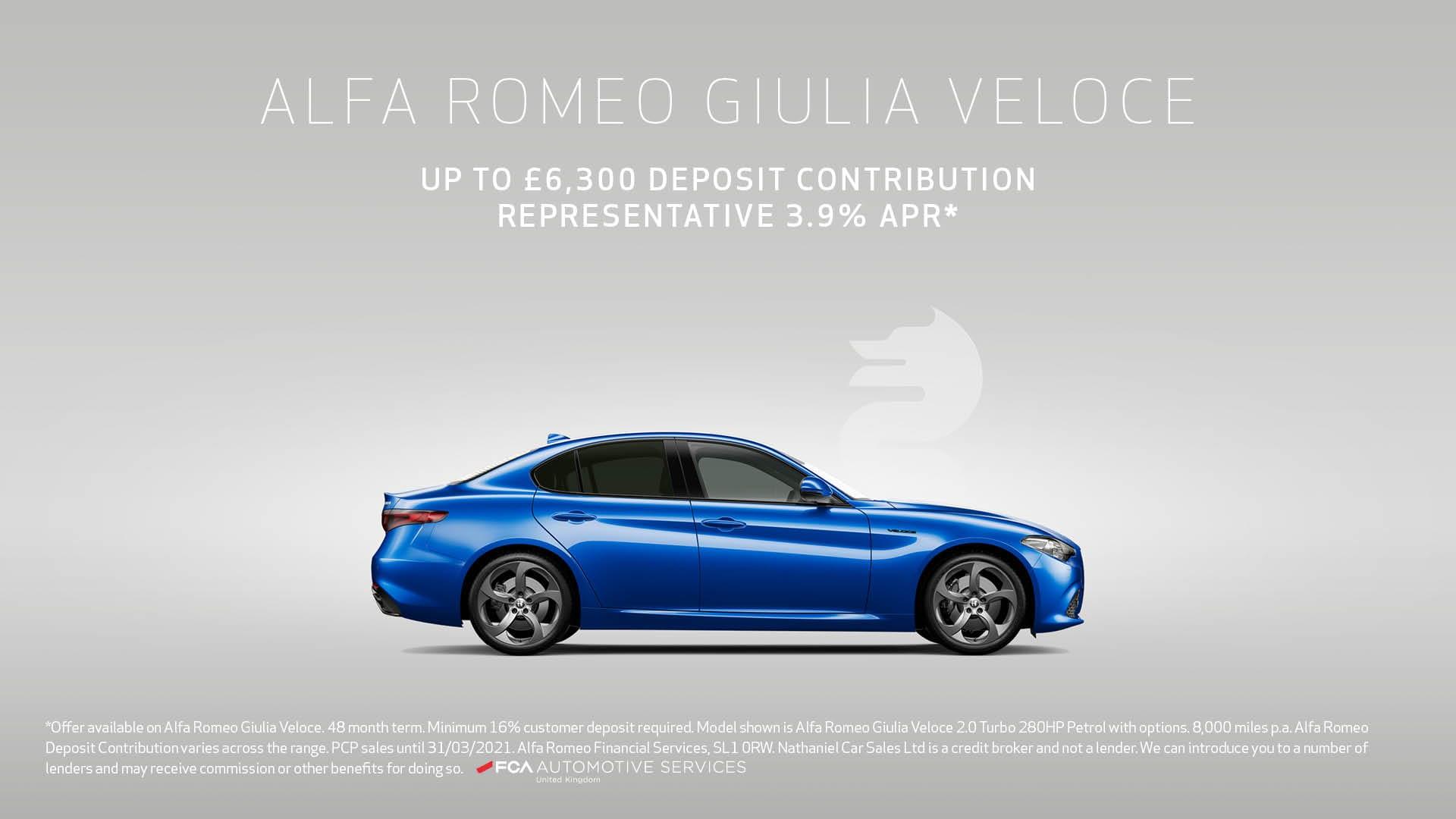 Q1 2021 Alfa Romeo - Giulia Veloce PCP - Website banner - 1920 x 1080