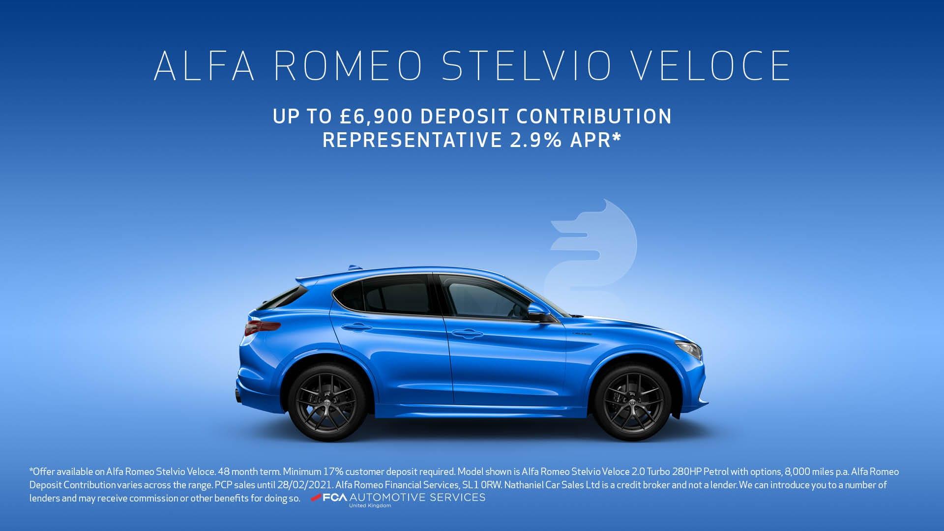 Q1 2021 Alfa Romeo - Stelvio Veloce PCP - Website banner - 1920 x 1080