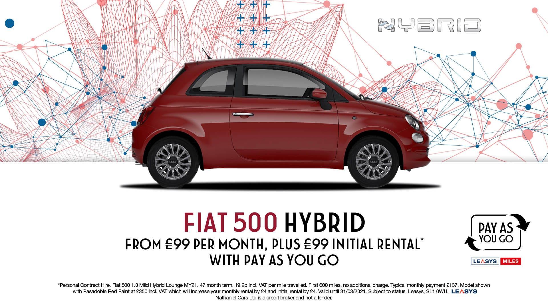 Q1 2021 Fiat 500 Hybrid PAYG PCH - Website banner - 1920 x 1080