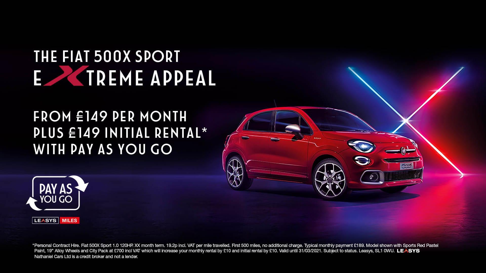Q1 2021 Fiat 500X PAYG PCH - Website banner - 1920 x 1080
