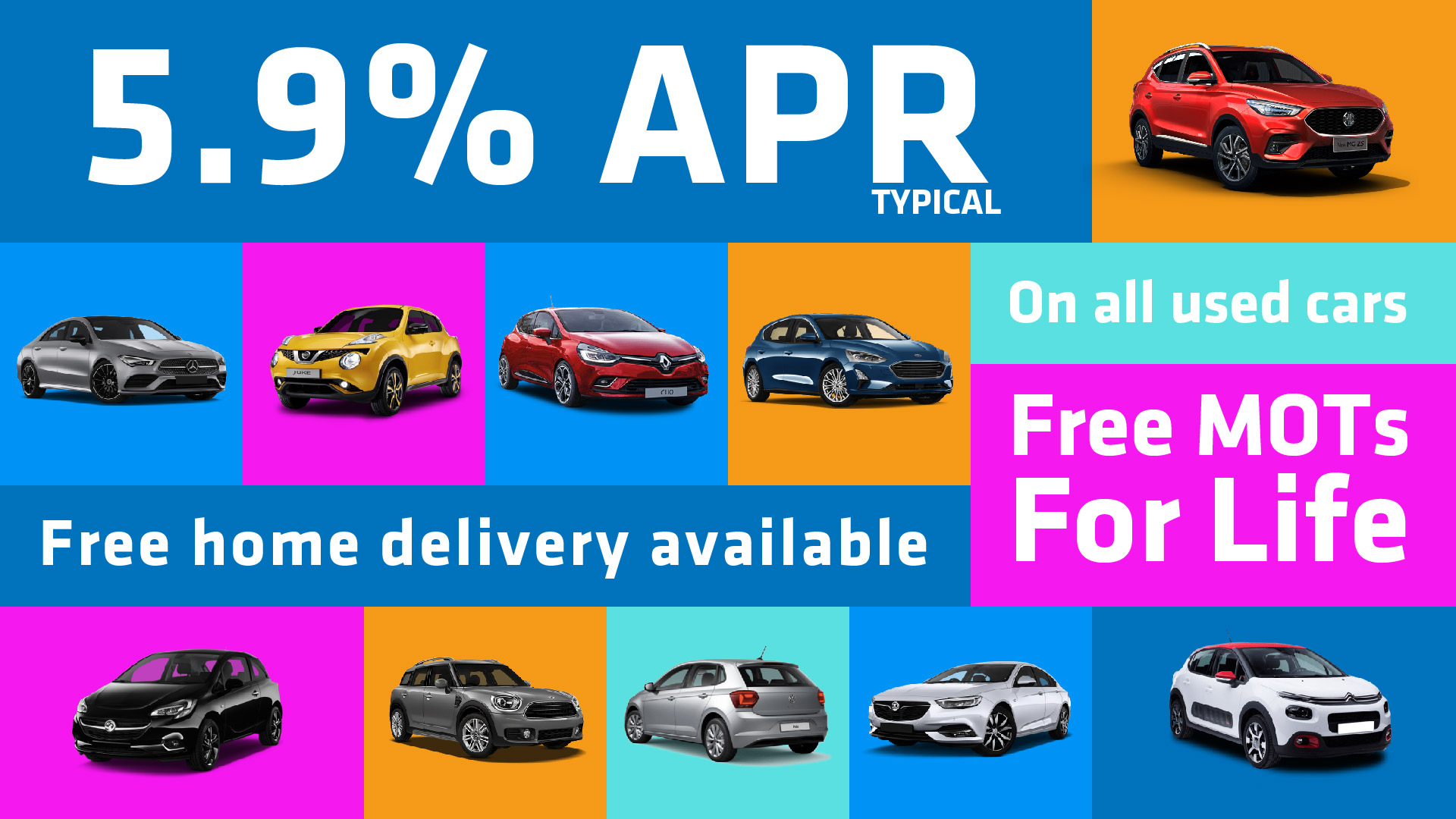 Used Cars | 5.9%APR | Free Home Delivery |