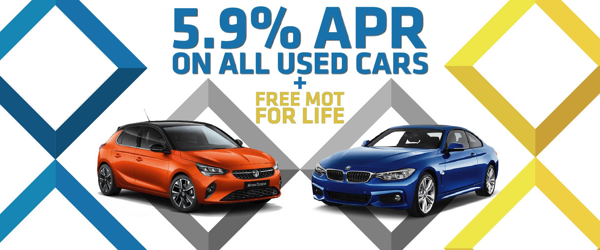 Used Cars Offer. 5.9% APR & Free MOT for Life